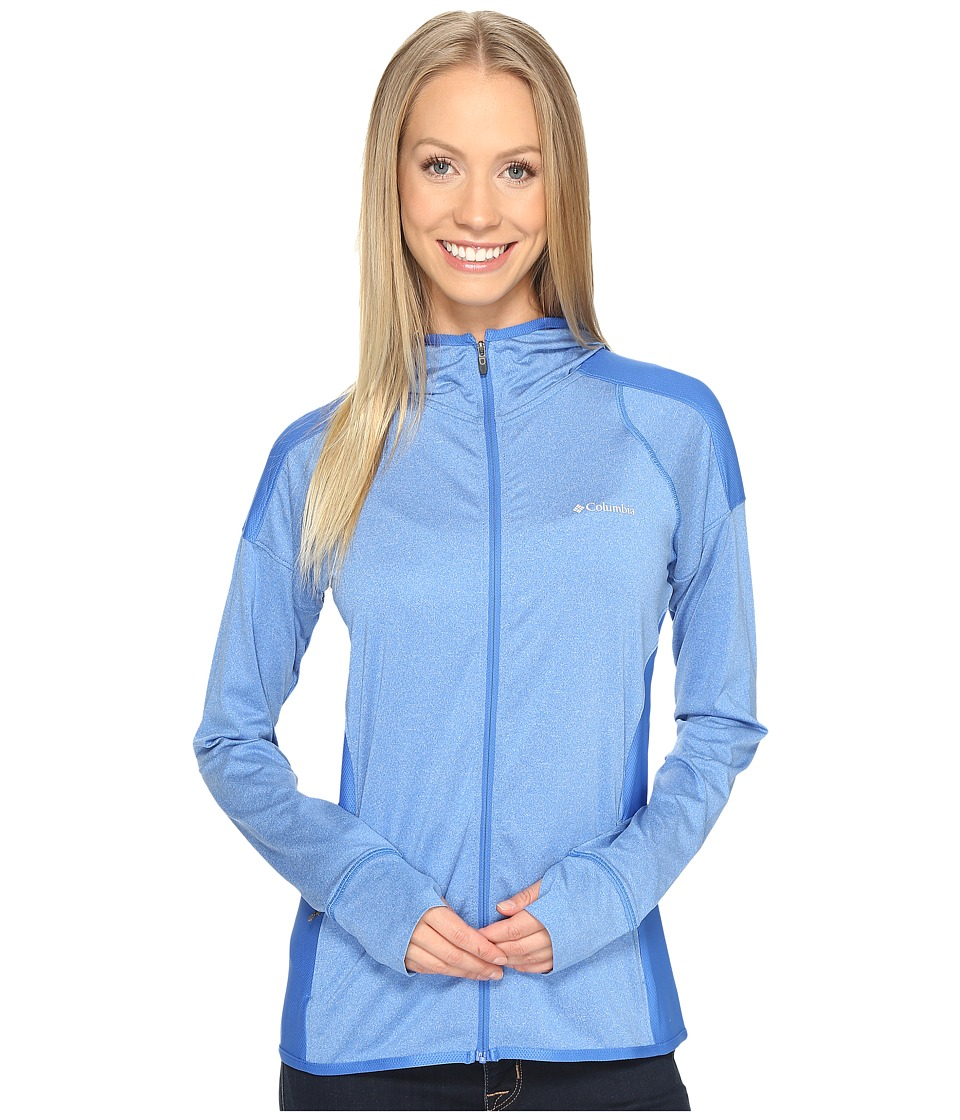 Columbia - Saturday Trail Hoodie (Stormy Blue Heather) Women's Sweatshirt