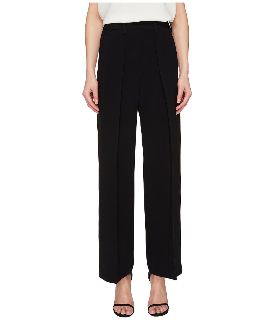 Neil Barrett - Light Crepe Stretch + Raso Accoppiato (Black) Women's Casual Pants