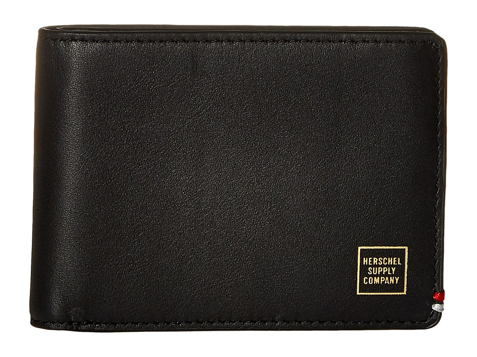 Herschel Supply Co. - Merritt Napa (Black/Gold Foil) Wallet Handbags