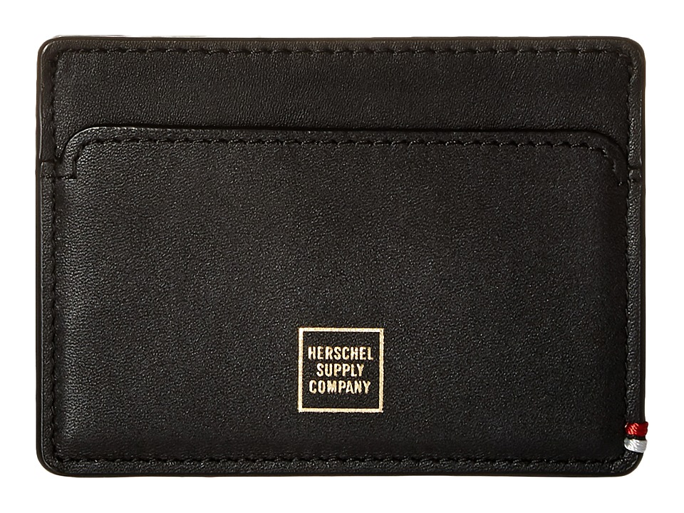Herschel Supply Co. - Slip Napa (Black/Gold Foil) Wallet Handbags