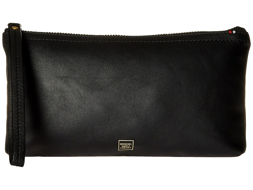 Herschel Supply Co. - Casey Napa (Black/Gold Foil) Wallet Handbags