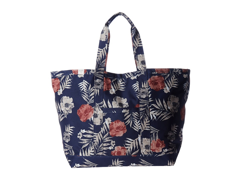 Herschel Supply Co. - Bamfield (Peacoat Floria) Tote Handbags