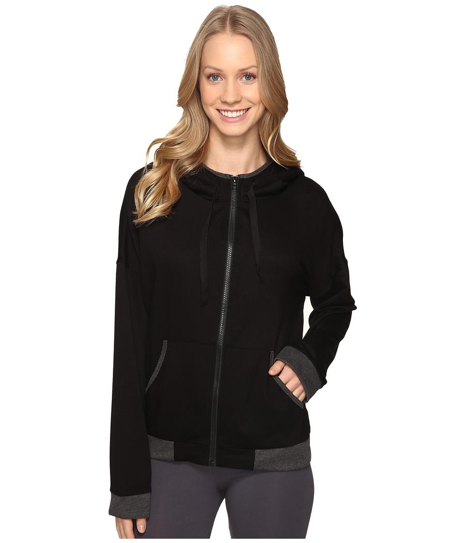 DKNY - Long Sleeve Hoodie (Black) Women's Pajama