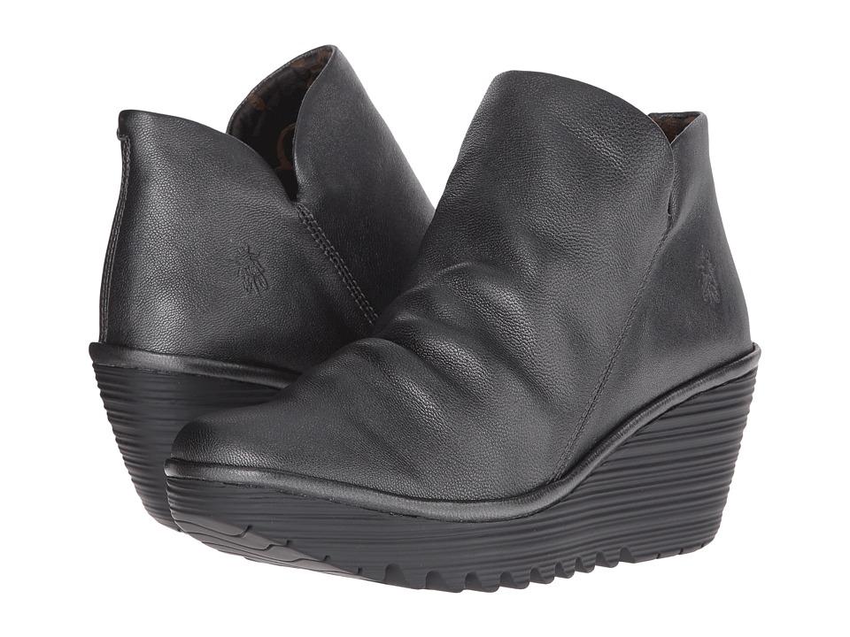 FLY LONDON - Yip (Graphite Borgogna) Women's Shoes