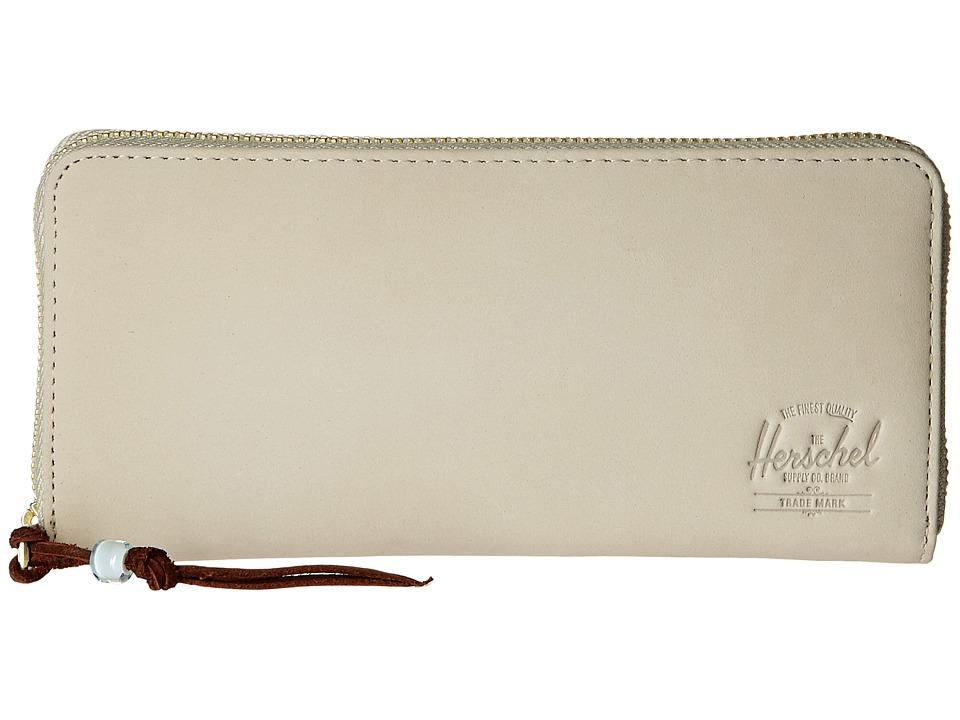 Herschel Supply Co. - Avenue with Zipper Leather (Cream Nubuck Leather) Wallet Handbags