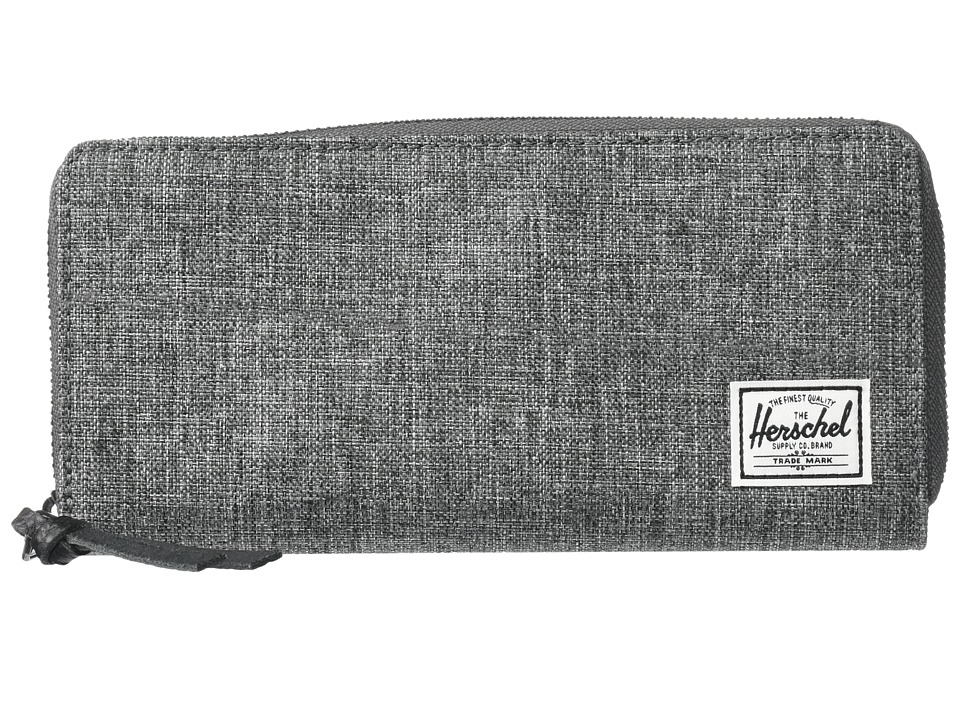 Herschel Supply Co. - Avenue with Zipper (Raven Crosshatch) Wallet Handbags