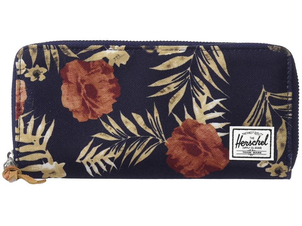 Herschel Supply Co. - Avenue with Zipper (Peacoat Floria) Wallet Handbags