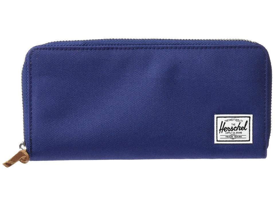 Herschel Supply Co. - Avenue with Zipper (Twilight Blue/Pelican) Wallet Handbags