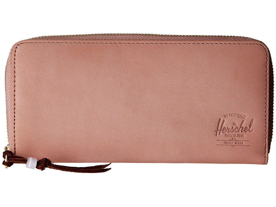Herschel Supply Co. - Avenue with Zipper Leather (Ash Rose Nubuck Leather) Wallet Handbags