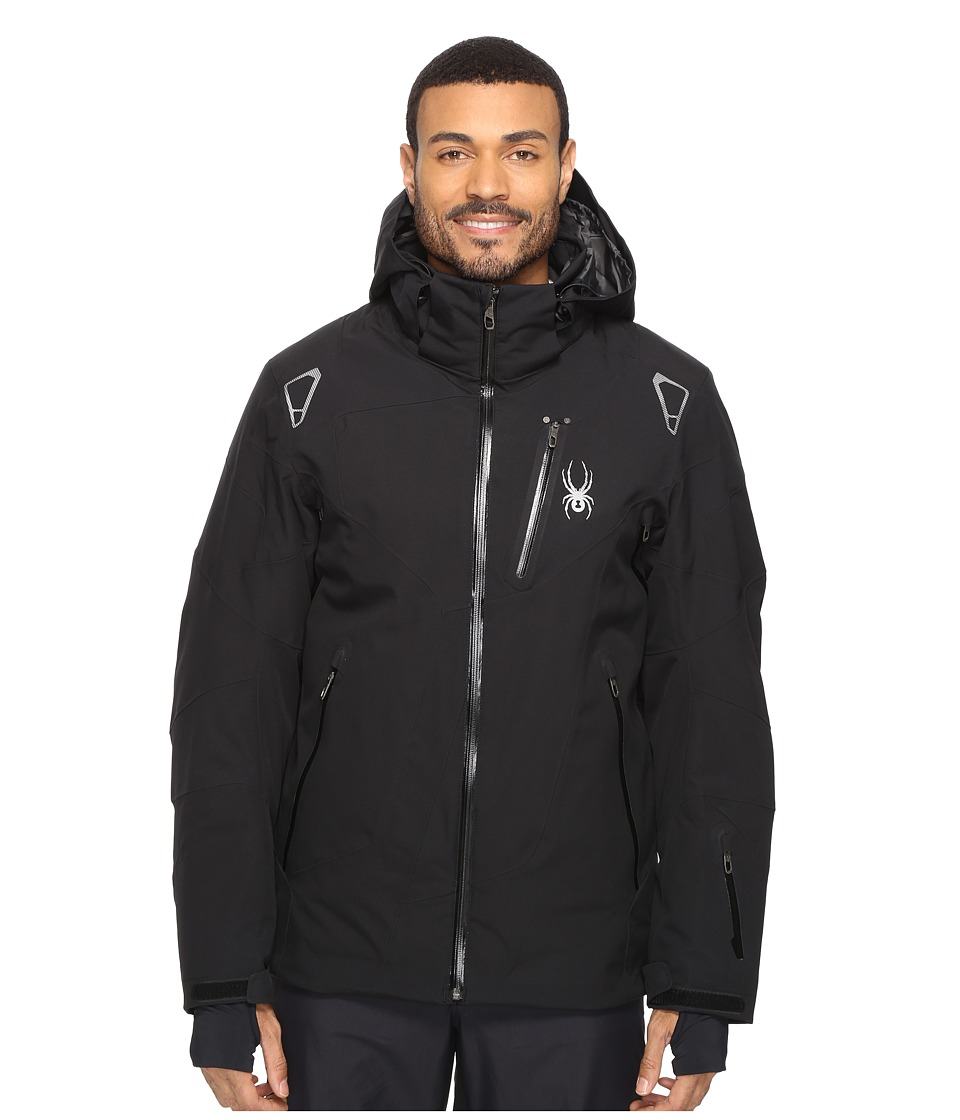Spyder - Leader Jacket (Black/Black/Black 1) Men's Jacket