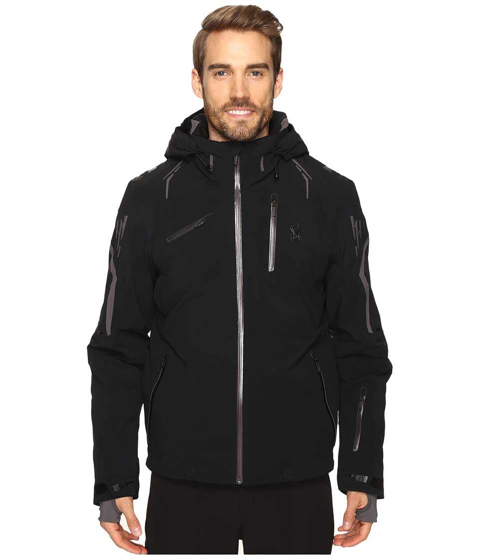 Spyder - Monterosa Jacket (Black/Polar/Black) Men's Coat