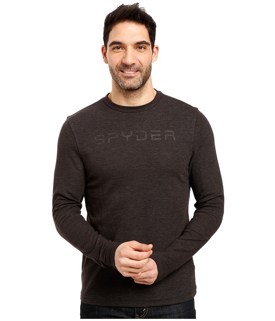 Spyder - Pump Therma Stretch T-Neck Top (Black 1) Men's Long Sleeve Pullover