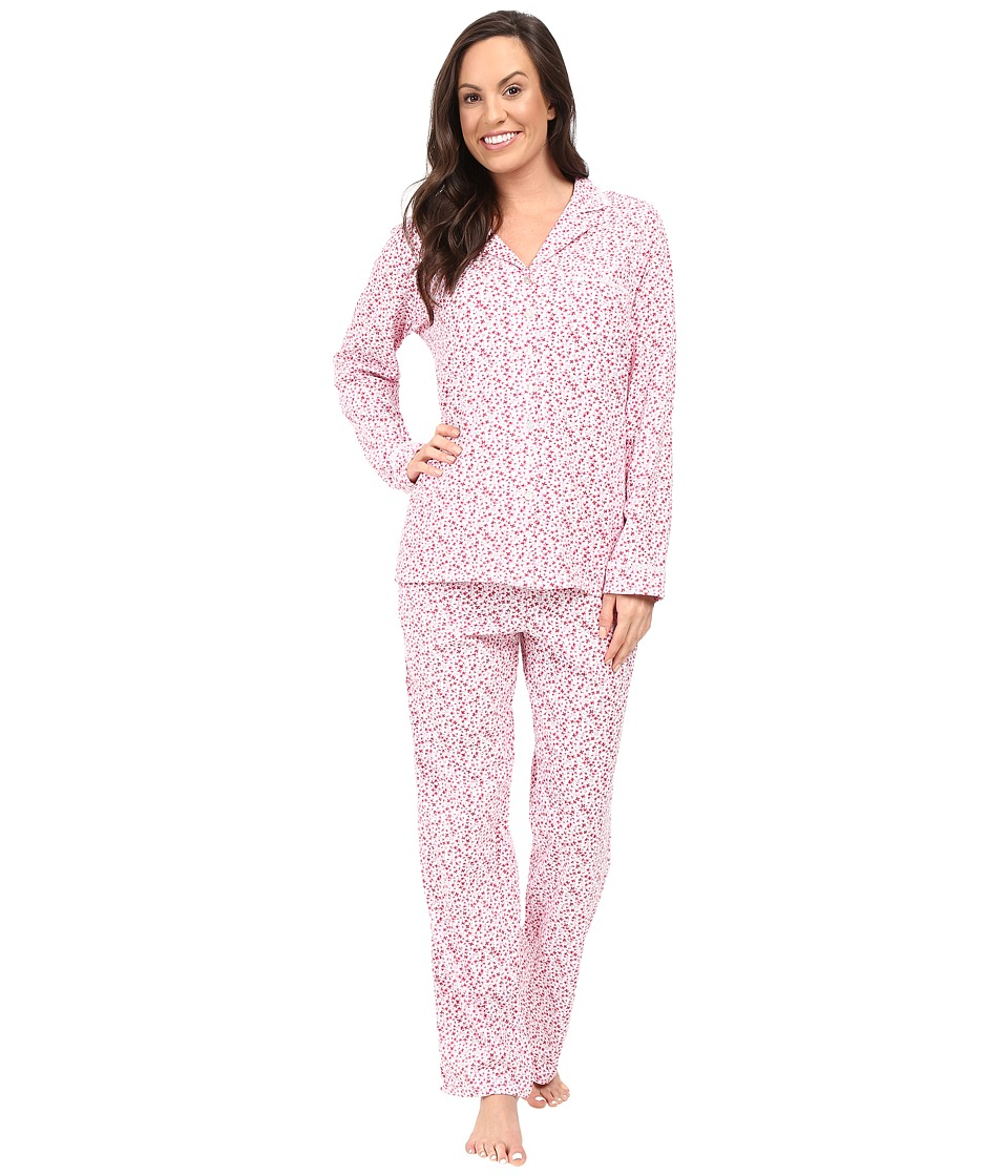Eileen West - Notch Collar Pajama (Pink Multi) Women's Pajama Sets