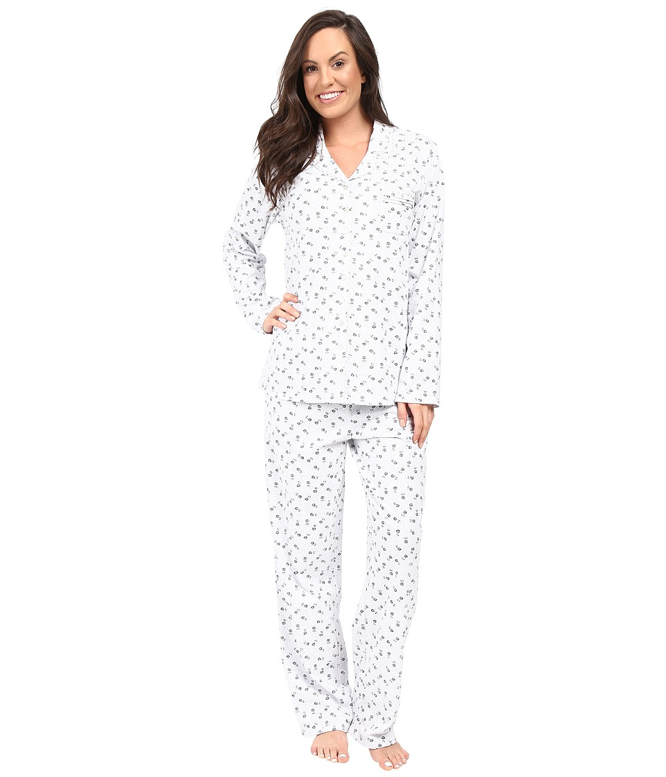 Eileen West - Notch Collar Pajama (Dot Rose) Women's Pajama Sets