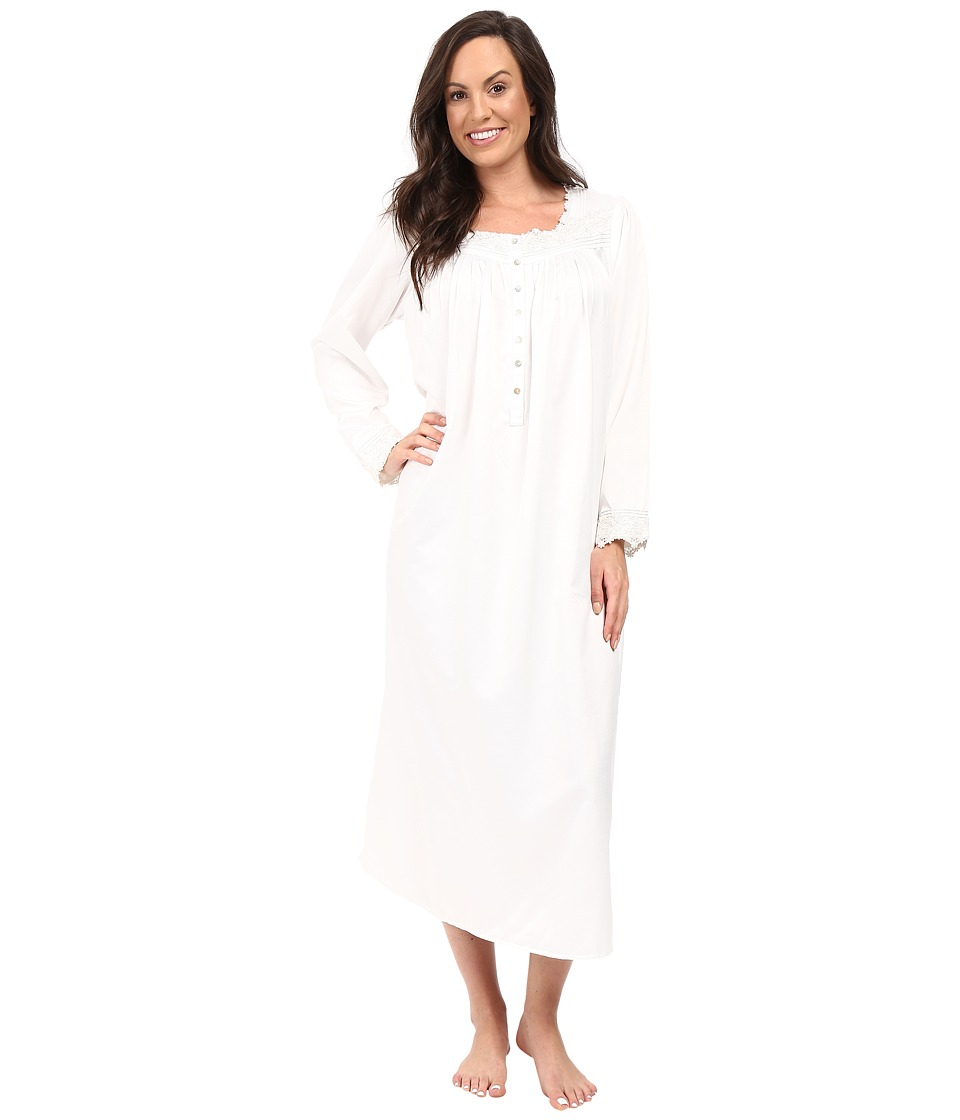 Eileen West - Long Sleeve Ballet Nightgown (Winter White) Women's Pajama