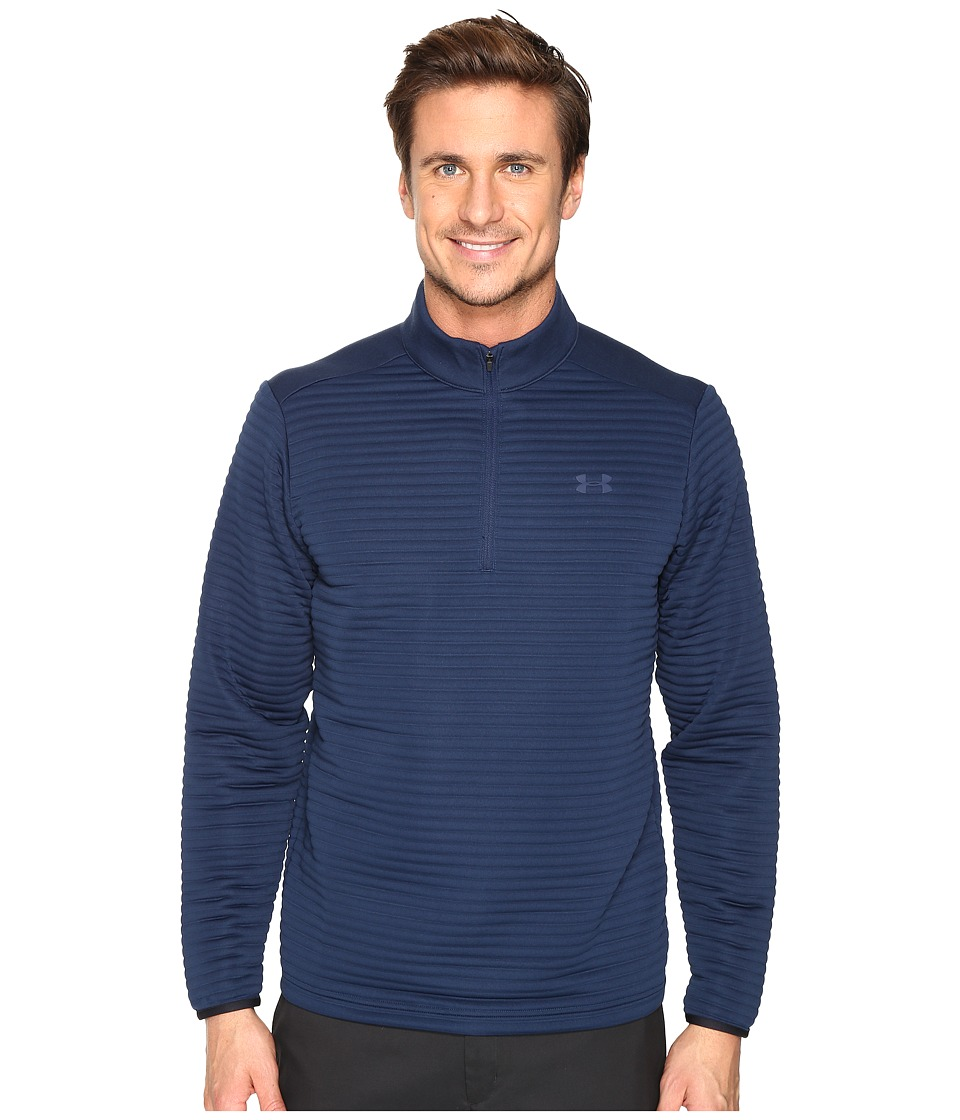 Under Armour Golf - Tips Daytona 1/4 Zip (Academy/Academy/Black) Men's Clothing