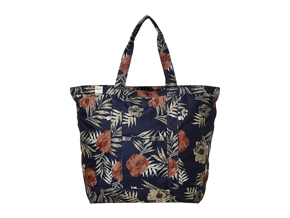 Herschel Supply Co. - Bamfield Mid-Volume (Peacoat Floria) Tote Handbags