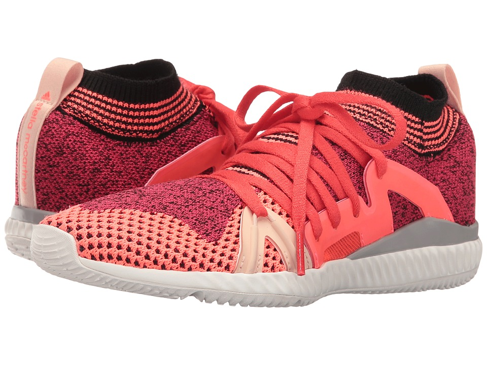 adidas by Stella McCartney - Edge Trainer (Pink Passion S04/Turbo F11/Red) Women's Lace up casual Shoes