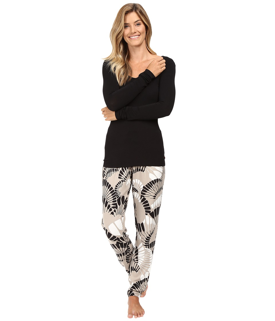 Josie - Sparkle Fest Long Sleeve PJ (Taupe) Women's Pajama Sets