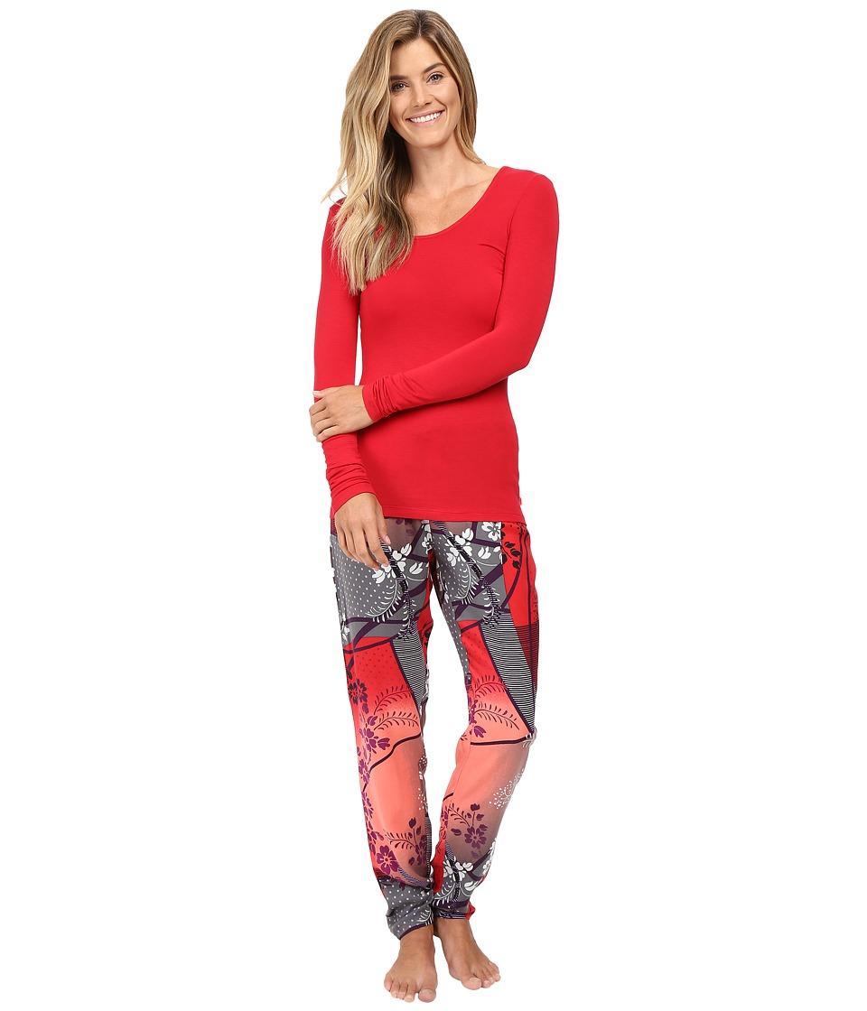 Josie - Sparkle Fest Long Sleeve PJ (Red/Ivory) Women's Pajama Sets