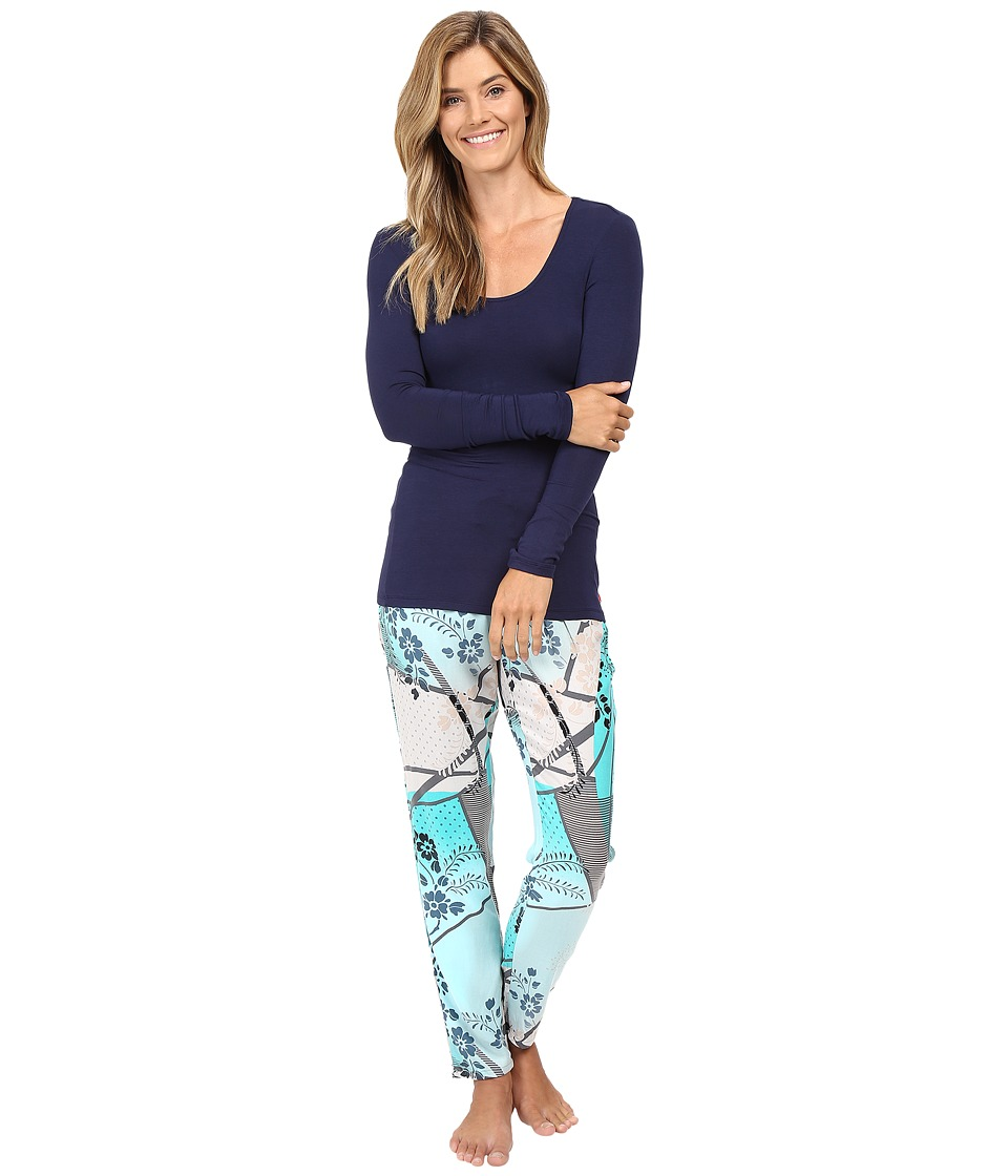 Josie - Sparkle Fest Long Sleeve PJ (Green Leaf) Women's Pajama Sets