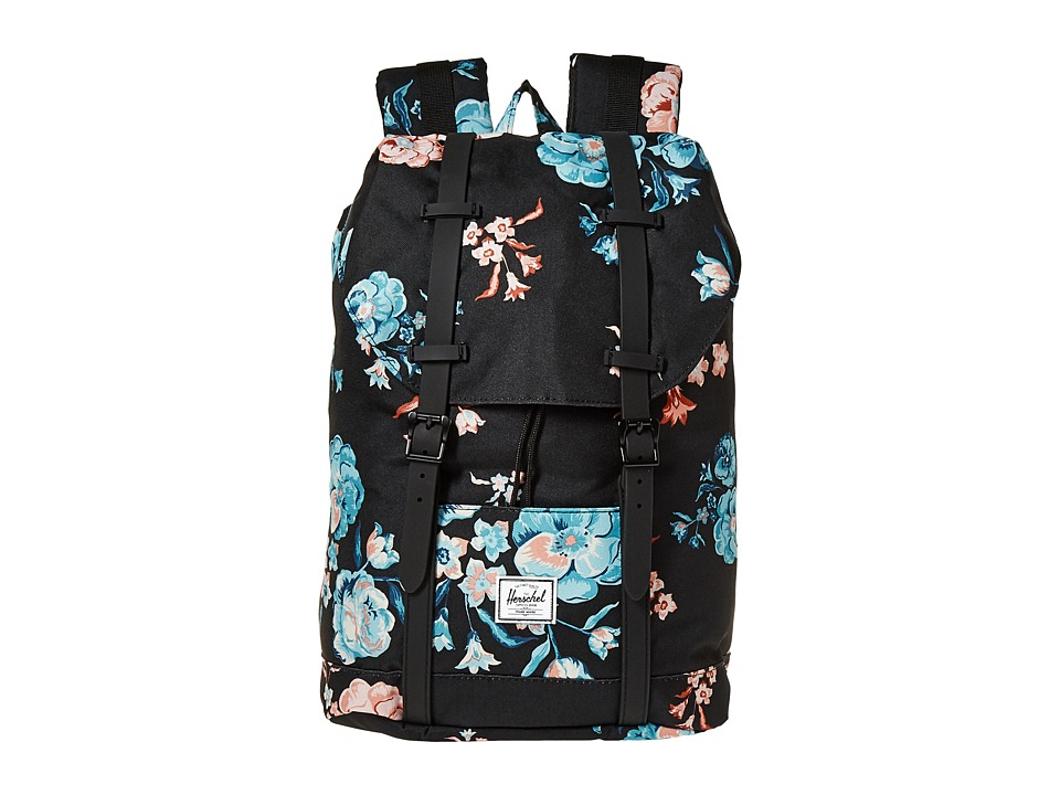 Herschel Supply Co. - Retreat Mid-Volume (Pastel Petals/Black Rubber) Backpack Bags