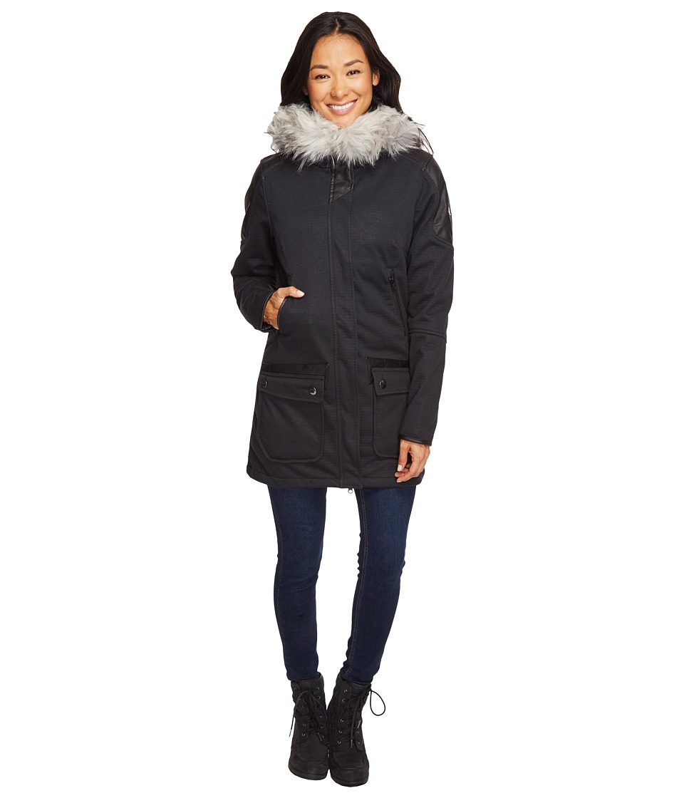 Spyder - Helix Faux Fur 321 Parka (Black/Black 1) Women's Coat