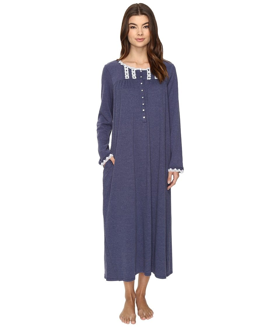 Eileen West - Long Sleeve Ballet Nightgown (Heather Navy) Women's Pajama