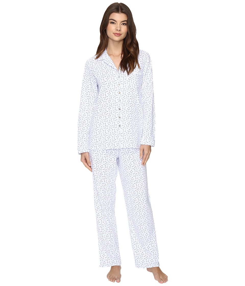 Eileen West - Notch Collar Pajama (Blue Geo) Women's Pajama Sets