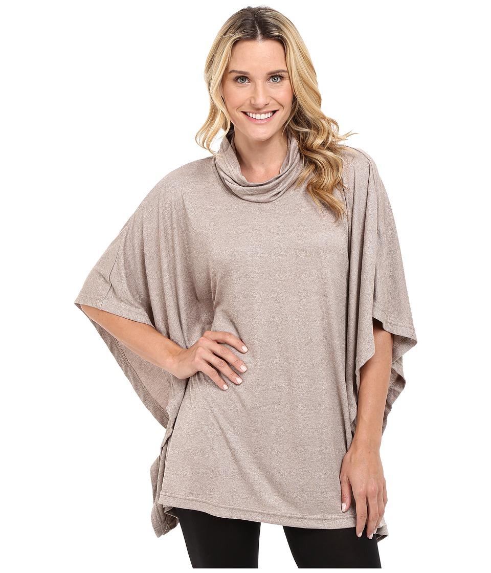 N by Natori - Speckled Caftan Interlock Top (Light Coffee) Women's Pajama