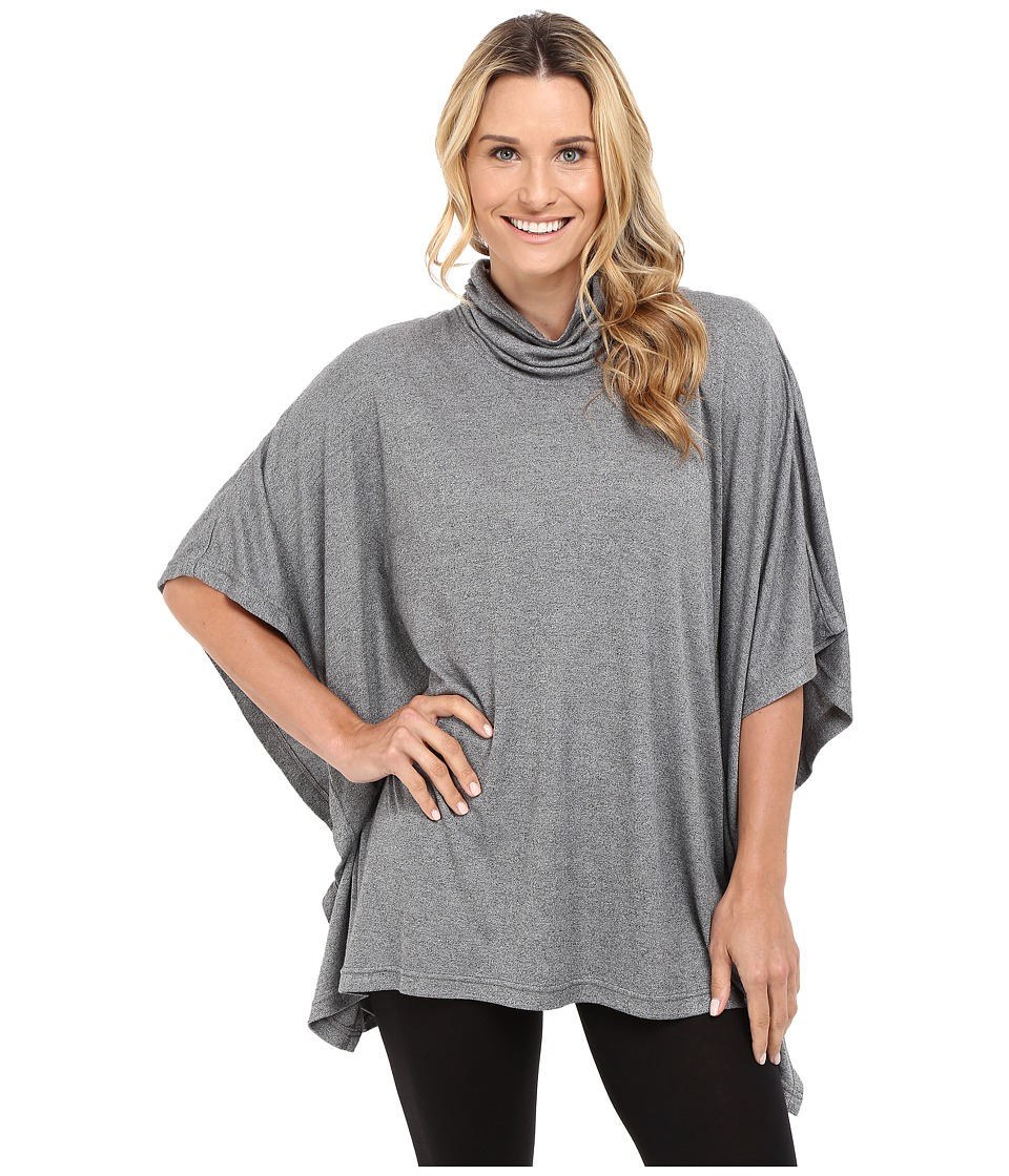 N by Natori - Speckled Caftan Interlock Top (Heather Grey) Women's Pajama