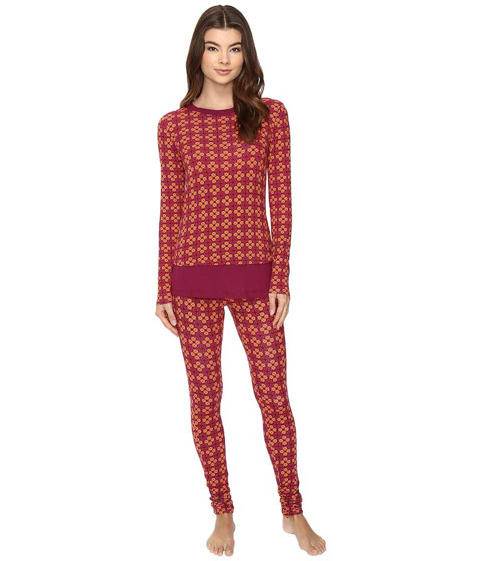 Josie - Mingle Printed Modal Double Trouble PJ (Red/Blue) Women's Pajama Sets