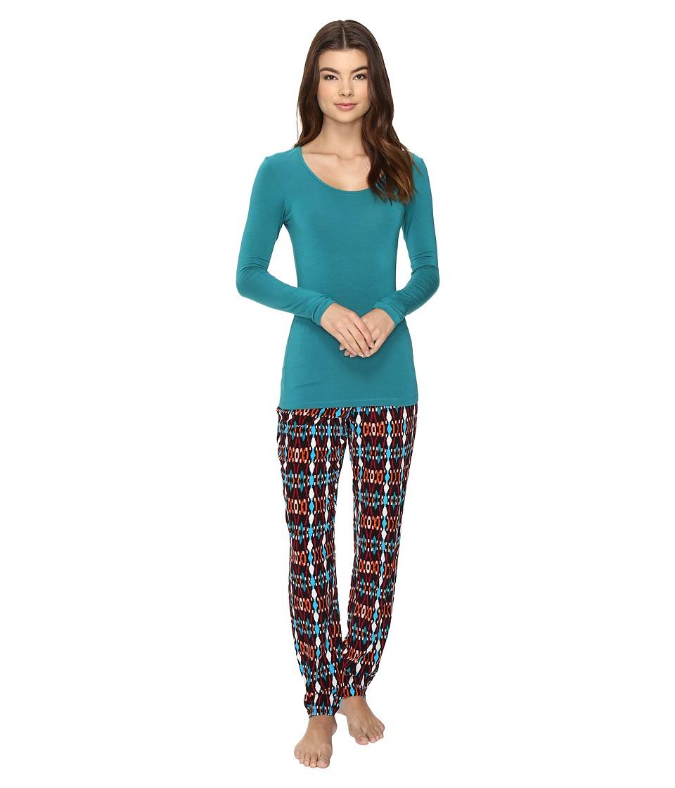 Josie - Solstice Long Sleeve PJ Set (Red Jasper) Women's Pajama Sets