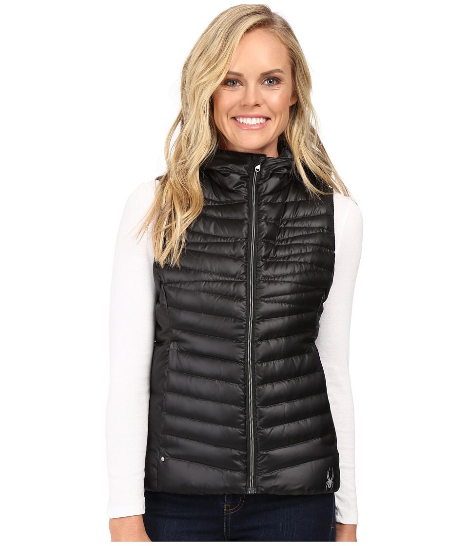 Spyder - Timeless Down Vest (Black/Sliver) Women's Coat