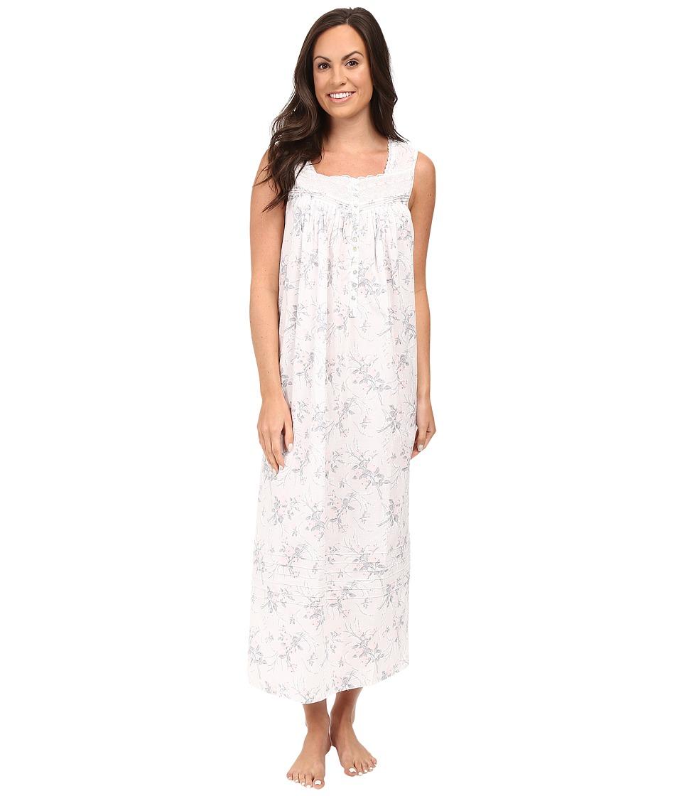 Eileen West - Ballet Nightgown Sleeveless (White/Floral) Women's Pajama