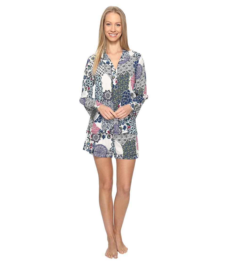 Josie - Spring Fever Shorty Notch PJ (Blue Multi) Women's Pajama Sets