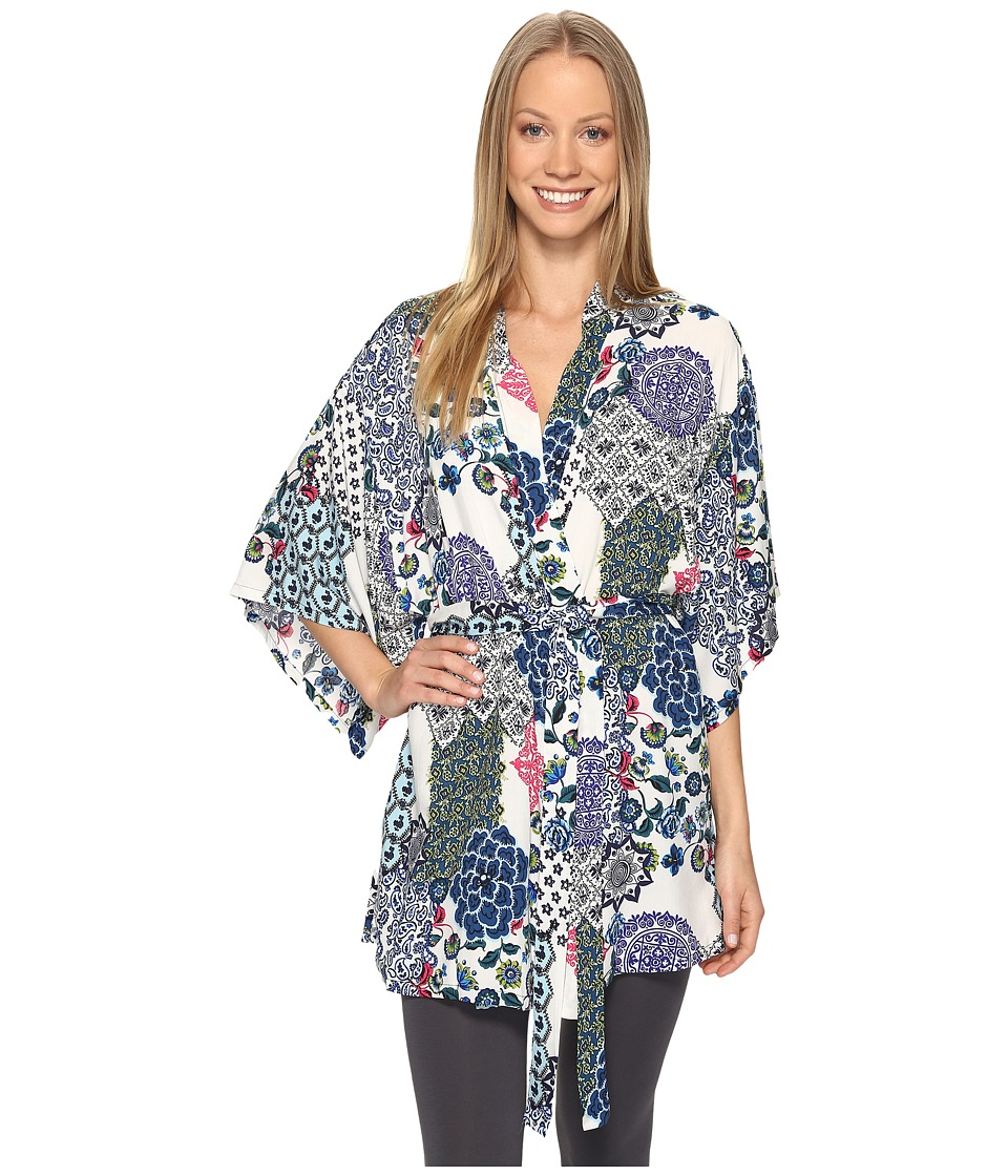 Josie - Spring Fever Happi Coat (Blue Multi) Women's Pajama