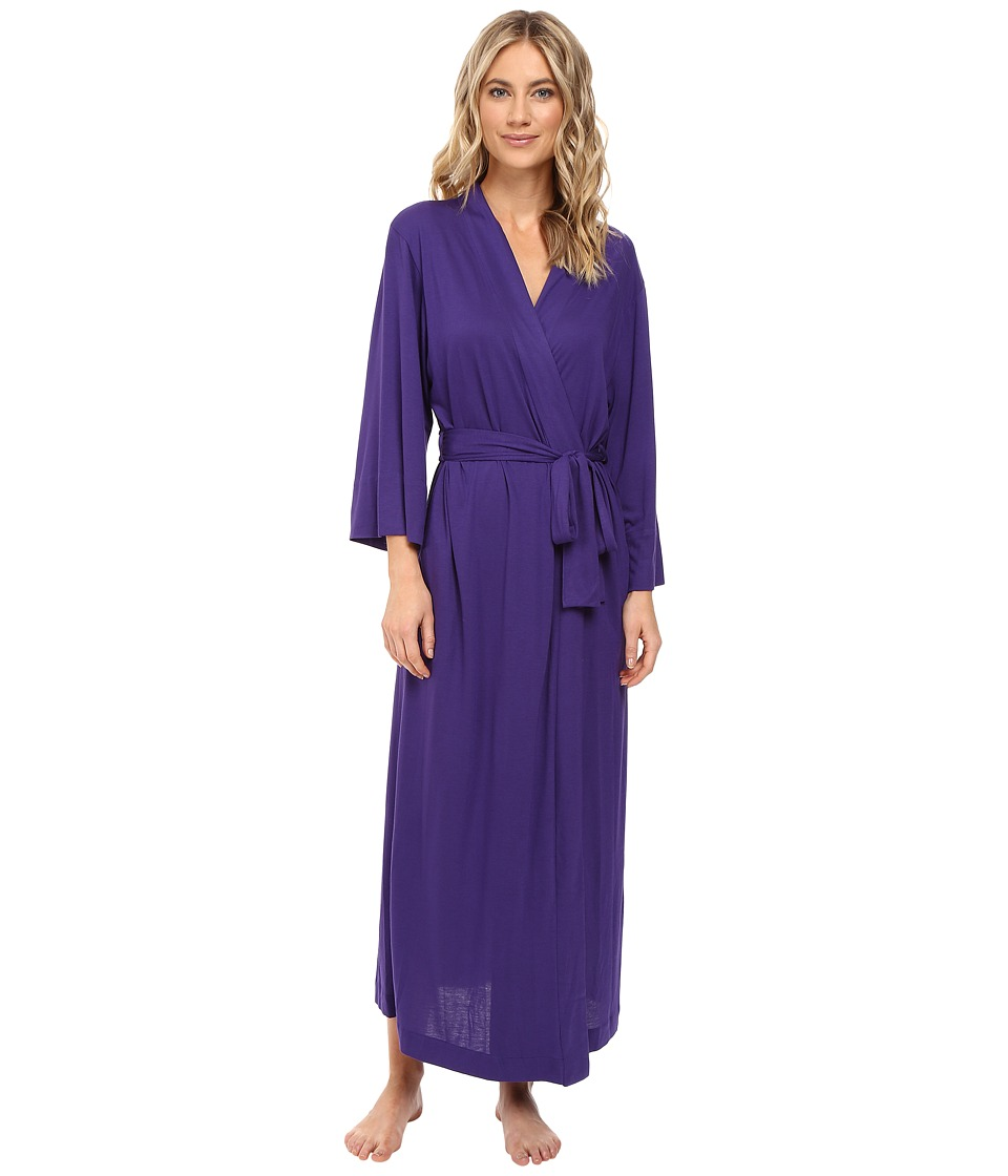Natori - Shangri-La Robe (Royal Purple) Women's Robe