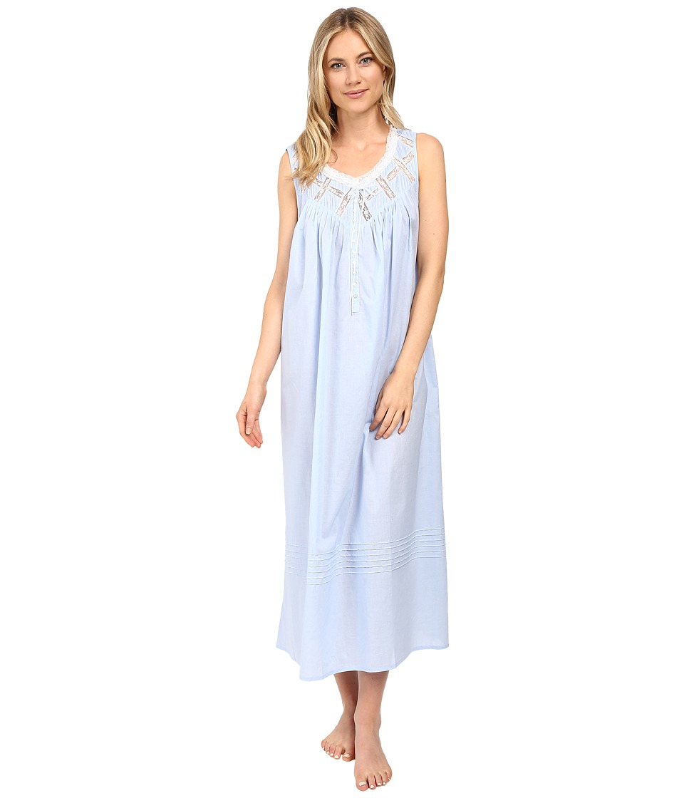 Eileen West - Ballet Nightgown Sleeveless (Blue) Women's Pajama