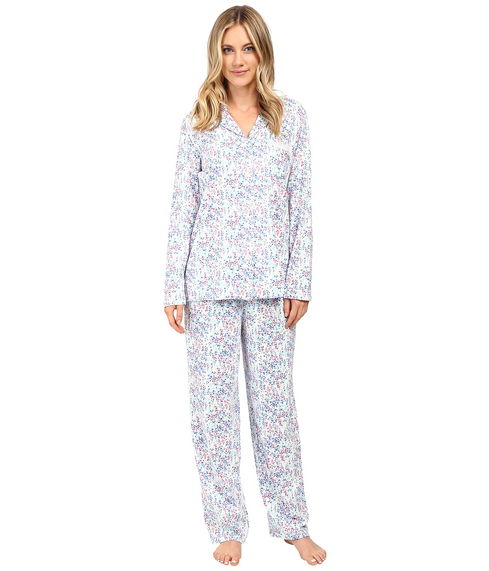 Eileen West - Long PJ Set Long Sleeve (Multi Floral) Women's Pajama Sets