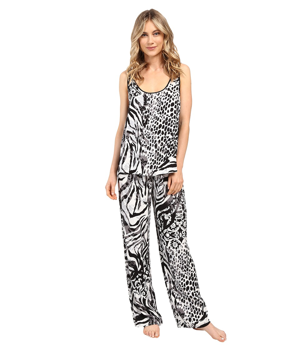 Josie - Edgy Garden Tank PJ (Black) Women's Pajama Sets
