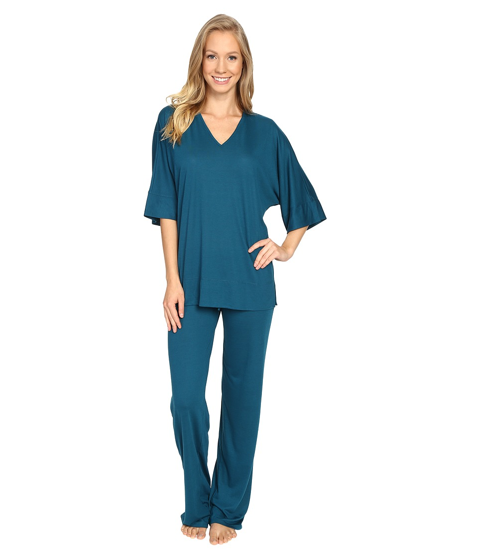 N by Natori - Congo PJ (Saxony Blue) Women's Pajama Sets
