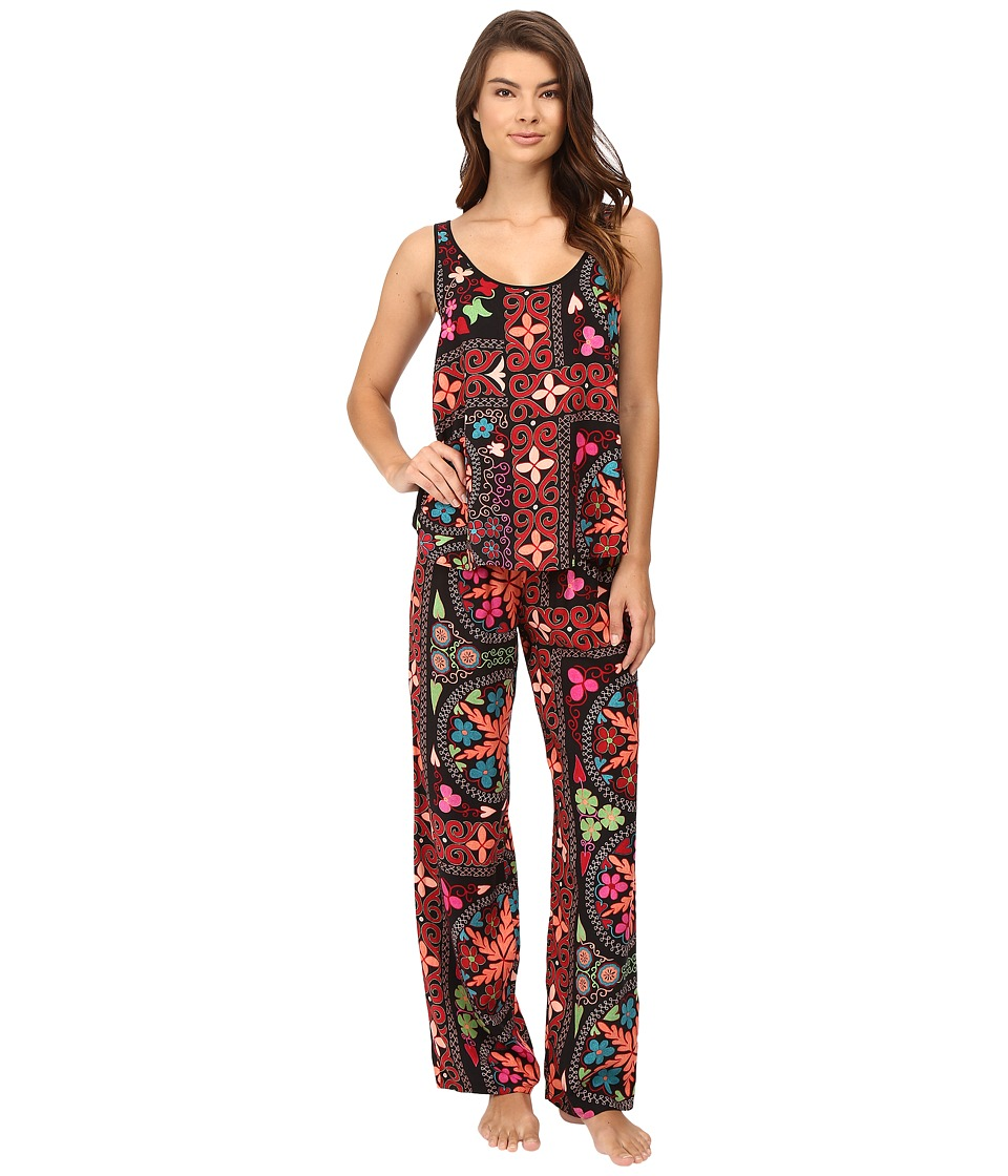 Josie - Quilted Mojave Tank PJ (Black Multi) Women's Pajama Sets