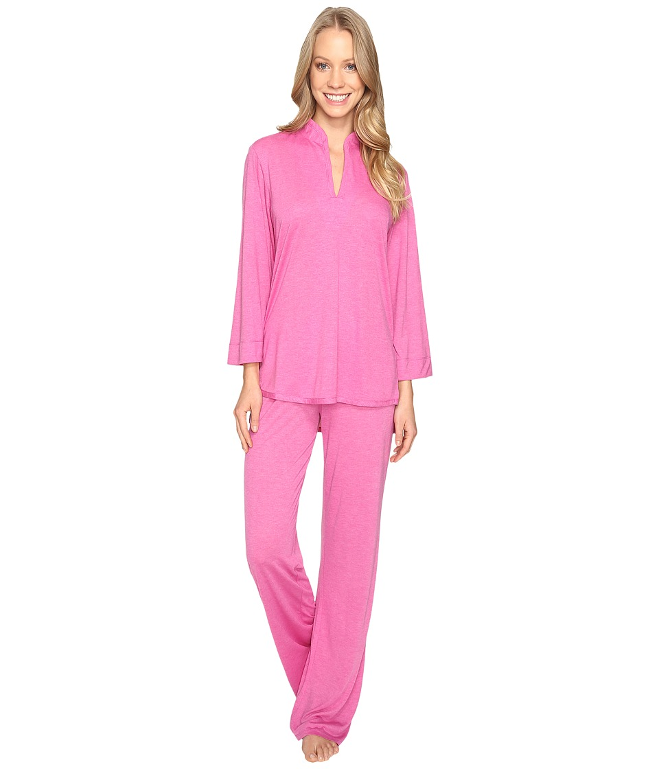 N by Natori - Congo PJ Set (Heather Garnet) Women's Pajama Sets