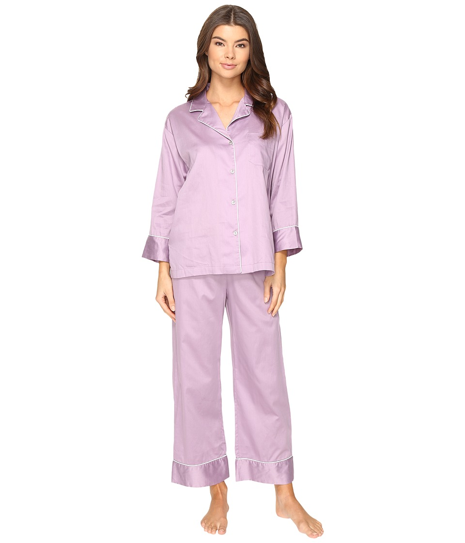 Natori - Cotton Sateen PJ (Lavendar Mist) Women's Pajama Sets