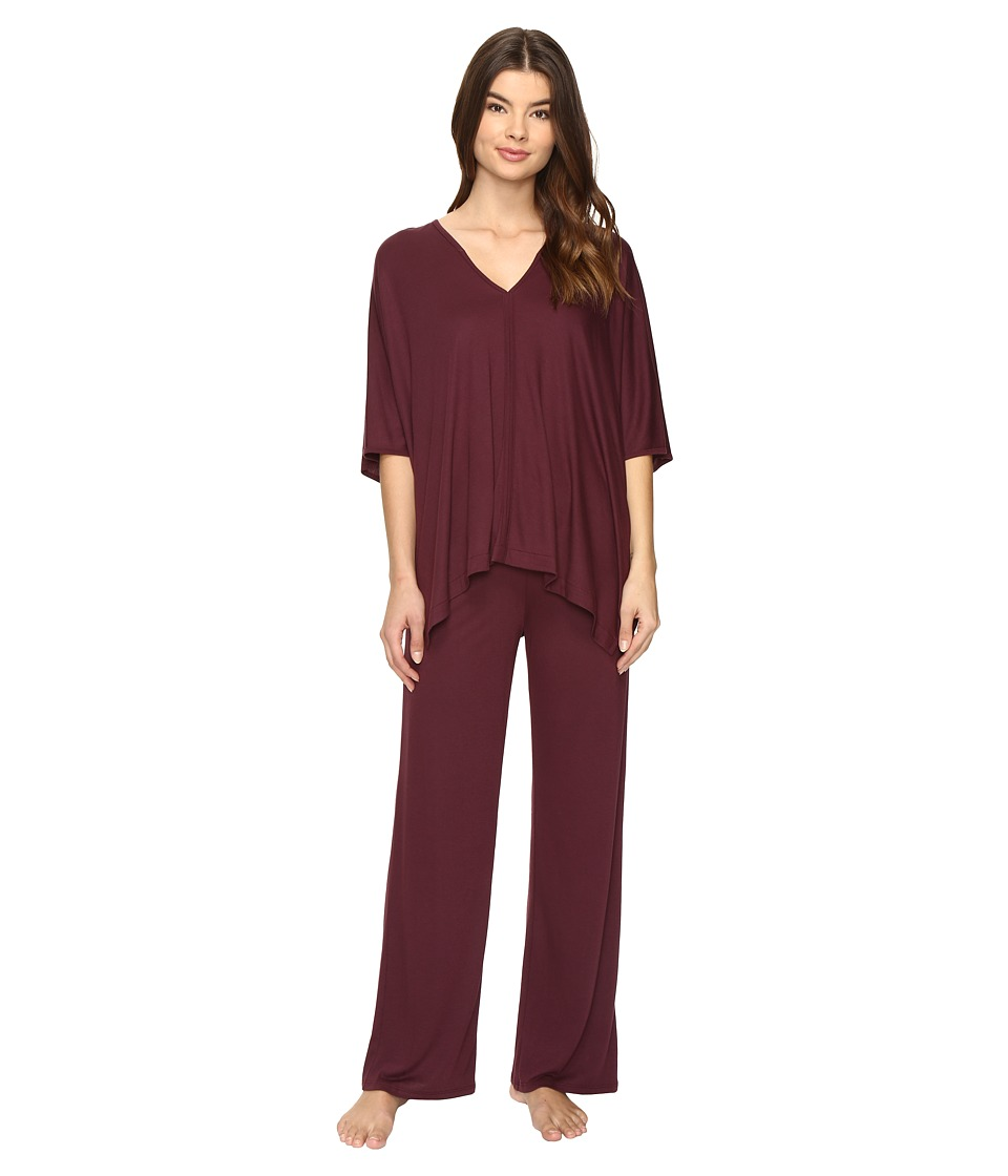 Natori - Shangri-La Tunic PJ (Deep Plum) Women's Pajama Sets