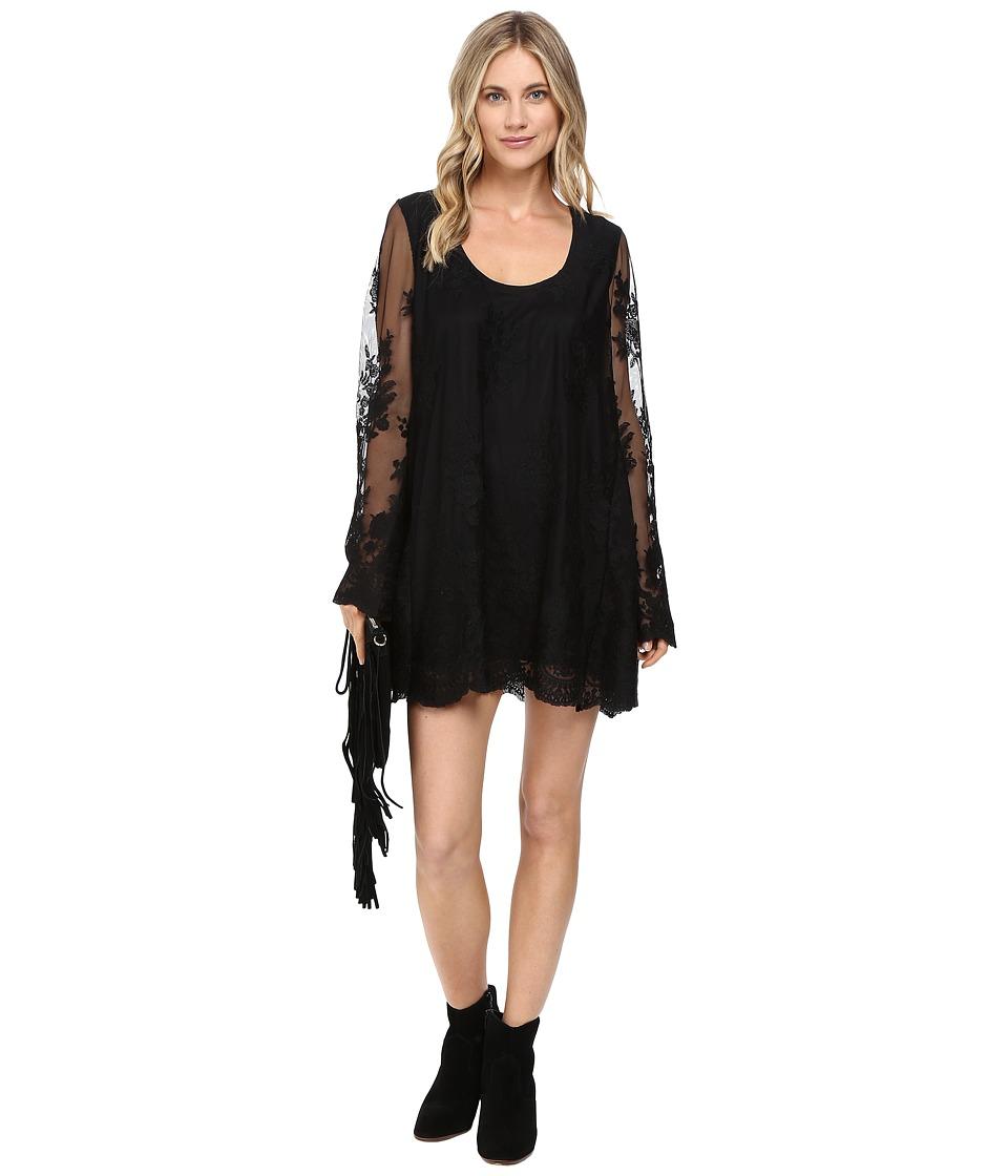 Show Me Your Mumu - Fannie Flow Dress (Lila Lace Caviar) Women's Dress