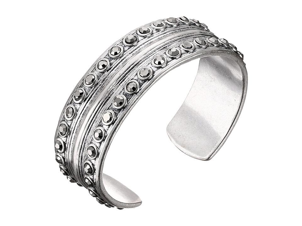 Lucky Brand - Pave Ombre Bold Cuff Bracelet (Silver) Bracelet