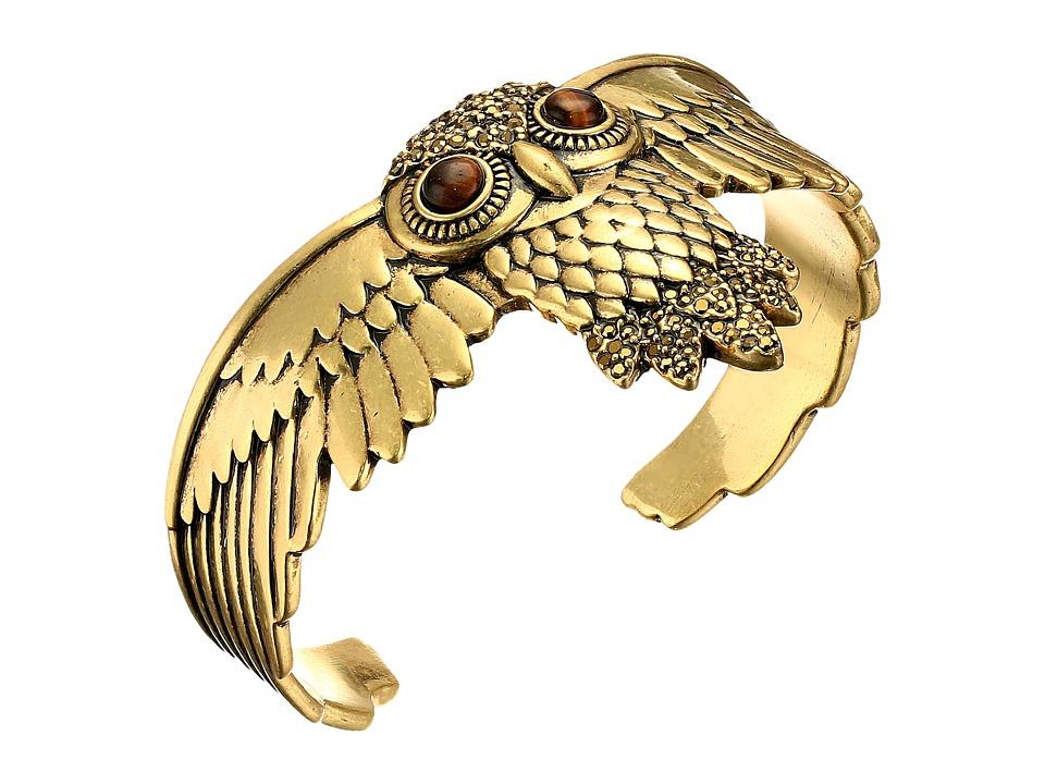Lucky Brand - Owl Cuff Bracelet (Gold) Bracelet