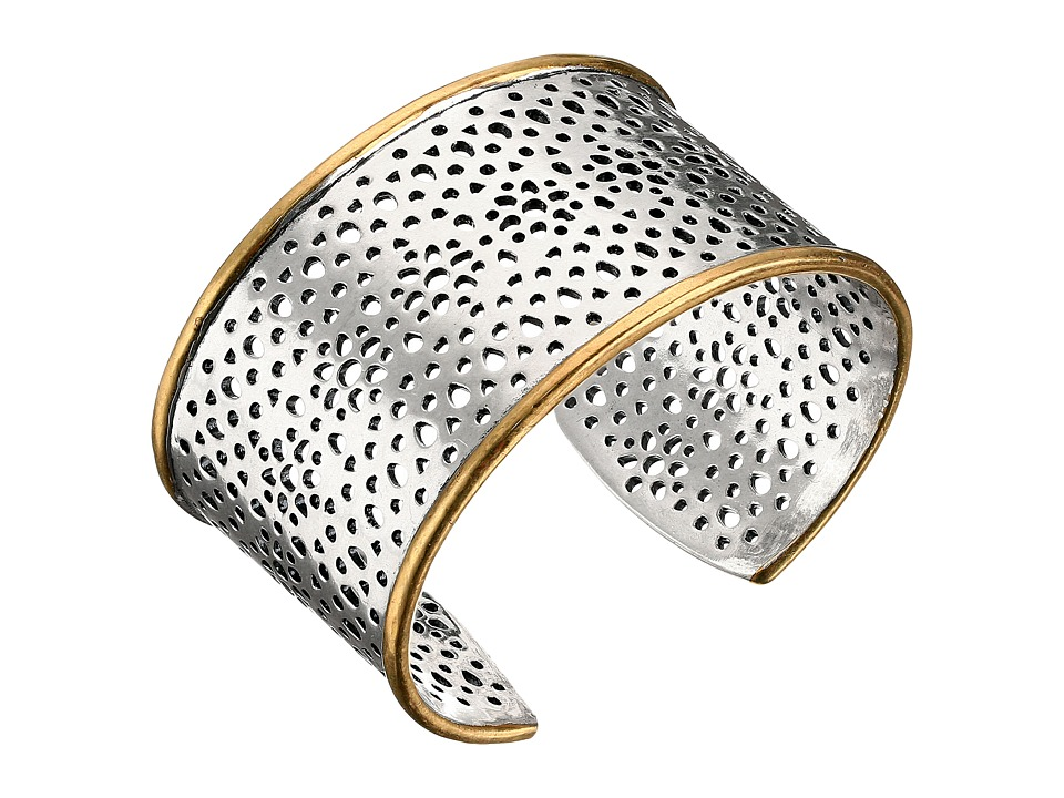 Lucky Brand - Abstract Openwork Cuff Bracelet (Two-Tone) Bracelet
